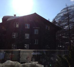Sicht vom Zimmer Richtung Matterhorn Hotel Bristol