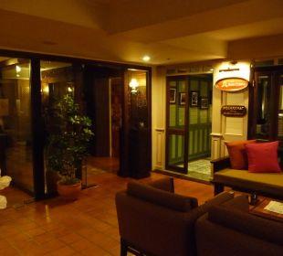 Eingang zum Frühstücksraum Hotel Siam Heritage