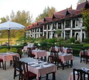 Fruehstücksterrasse Khao Lak Riverside Resort & Spa
