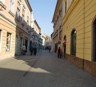 Straße vor dem Hotel