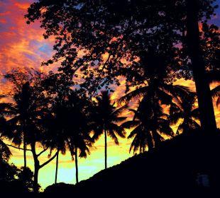 Immer wieder tolle Sonnenuntergänge im GG-House Guest House Green Garden House