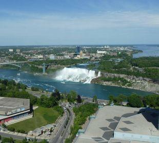 Der perfekte Blick Hotel Hilton Niagara Falls / Fallsview