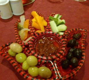 Vorspeise im ala; carte restaurant Hotel Safira Palms