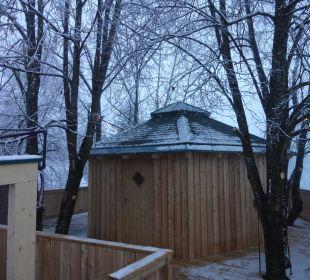 Baumhaus Sauna mit Panoramablick  Hotel Die Post
