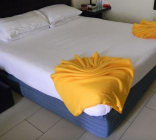 Täglich anderes Bettmotiv  Hotel Reef Oasis Blue Bay