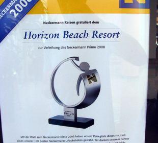 Auszeichnung Hotel Horizon Beach Resort
