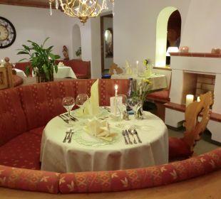 Tisch für die Zeit unseres Aufenthalts Hotel Bergkristall