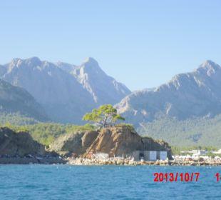 Mit boot am strand entlang Majesty Club La Mer (geschlossen)