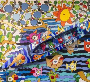 Kunstwerk in der Hotelbar AHORN Seehotel Templin