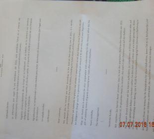 Drohbrief des Hotels wg Rauchens auf Balkon IFA Catarina Hotel