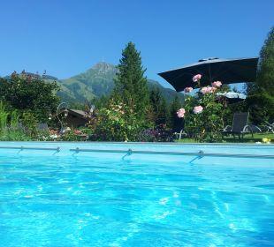 Geheitzter Pool - Hotel in den Kitzbüheler Alpen Gartenhotel Rosenhof