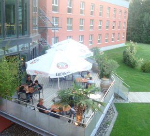 Aussenterrasse Swiss Heidi Hotel