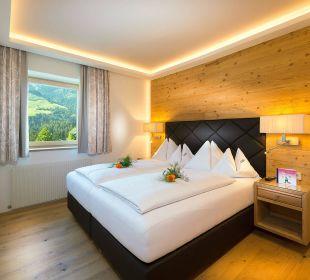 Berghof-Suite - Schlafzimmer Verwöhnhotel Berghof