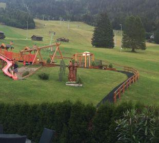 Ausblick von der Terrasse Hotel Alpen Royal