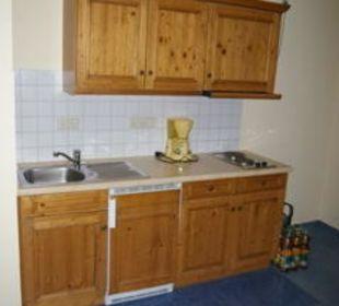 Küchenzeile der Ferienwohnung Gasthof Schwabenhof