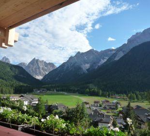 Tolles Panorama vom Balkon Biovita Hotel Alpi