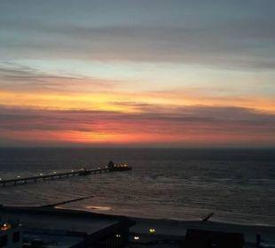 Sonnenaufgang im November vom Balkon aus Carat Golf & Sporthotel Residenz