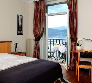 Doppelzimmer mit Seesicht Art Deco Hotel Montana Luzern