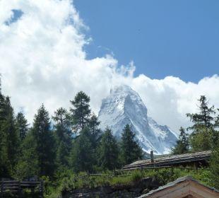 Matterhorn, vom Zimmer aus gesehen Hotel Matthiol
