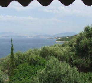 Ausblick vom Balkon des Zimmers