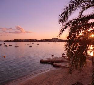 Sonnenuntergang vom Zimmer aus Hotel Simbad