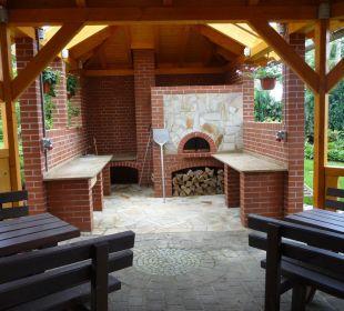 Steinbackofen für Fisch, Pizza und Flammkuchen Gasthof Brauner Hirsch Sophienhof