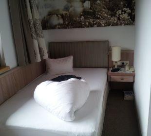 Bettdecke als Herz Olympia Relax Hotel Leonhard Stock