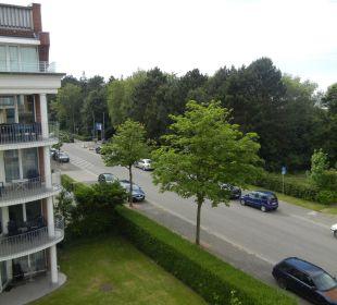 Blick vom Balkon Richtung Ortsmitte Aparthotel Duhner Strandhus