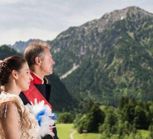 Balkonblick mit Bergen Hotel Prinz - Luitpold - Bad