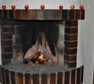 Kaminfeuer im Restaurant Seehotel Gut Dürnhof