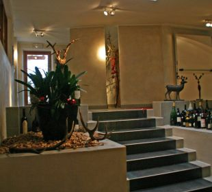 Aufgang zum Restaurant Hotel Bad Schörgau