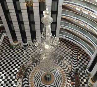 Sicht von Oben auf die Lobby Hotel Delphin Imperial