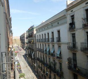 Blick vom Balkon Hotel Ciutat de Barcelona