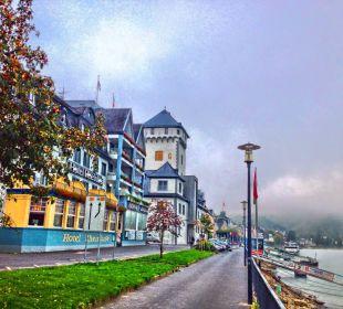 Rheinuferpromenade und Hotel Rheinlust Hotel Rheinlust