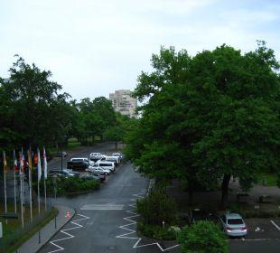 Blick vom Balkon Ramada Nürnberg Parkhotel