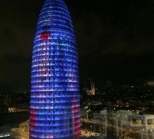 Vom Pool aus ! Hotel Novotel Barcelona City