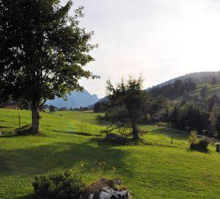 Blick vom Hotel-Garten ins Saanenland! Romantik Hotel Hornberg