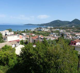 Ausblick vom Nebenhaus Hotel Corfu Pelagos