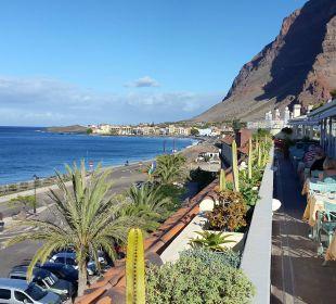 Blick nach Norden beim Frühstück Hotel Gran Rey