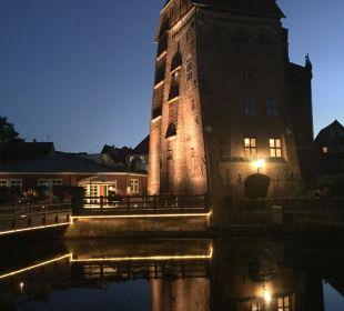 Blick vom Restaurant Romantik Hotel Bergström