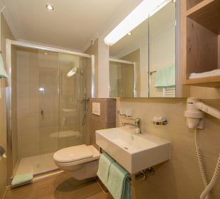 Badezimmer Doppelzimmer mit Balkon Appartement Panorama