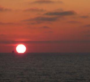 Sonnenaufgang vom Zimmer aus Panorama Hotel Bansin