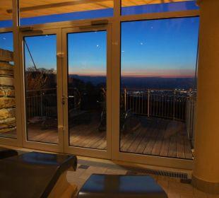 Ausblick von der Sauna Burghotel Staufeneck
