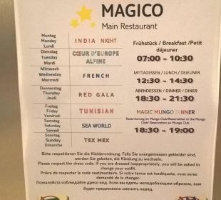 Themenabend im Magico Restaurant TUI MAGIC LIFE Penelope Beach