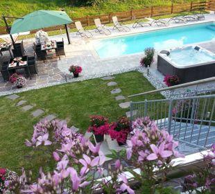 Blick von unserer Terrasse Apartments Ferienparadies Alpenglühn