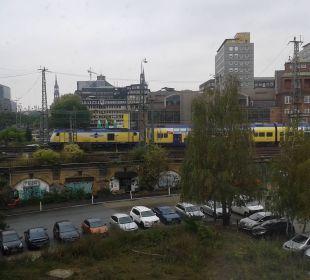 Ausblick aus Zimmer 330 Ibis budget Hamburg City