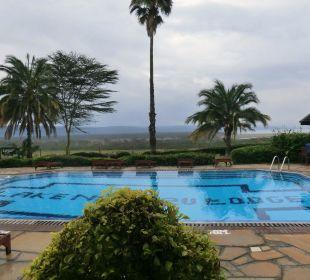 Pool mit Ausblick Hotel Lake Nakuru Lodge