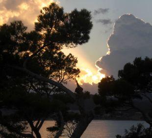 Sonnenuntergang auf der Terrasse Universal Hotel Lido Park