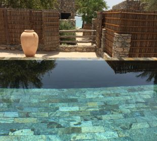 Blick vom Privatpool in 2. Reihe auf's Meer Six Senses Spa At Zighy Bay