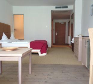 Zimmer vom Fenster aus Hotel Schwarzschmied